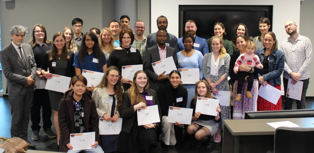 Scholarship winners with the Vice Chancellor