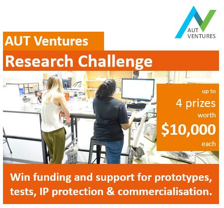 AUT Ventures Research Challenge poster