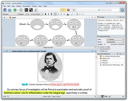 Scrivener split screen
